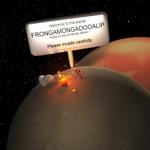 The moon orbiting Frongamongadooalip