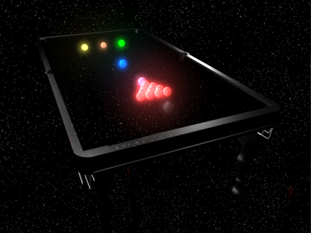 An Interplanetary Snooker Game