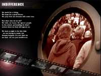 Indifference - a screenshot of the CD Rom presentation.